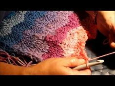 ▶ Tunisian Ripple Afghan Class 1 - YouTube start with a simple stitch row, then do 3 rows of ripple stitch, just repeated.