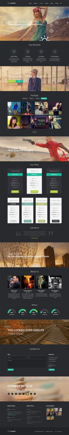 Parallels - Free Single Page PSD Template ( 2 Colors )