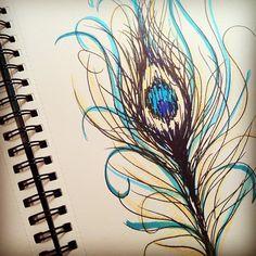 peacock feather sketch by ssylviadangg, via Flickr