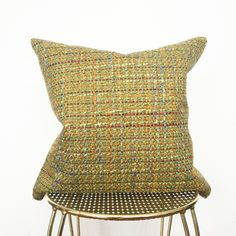 Our vintage pillows are made with canvas backing and finished with matching gold zipper. Each fabric is sourced by us and has been specially chosen because of the color, texture and over feeling. ...