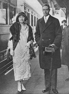 """theroyalhistory: """"The Duke and Duchess of York (Queen Elizabeth, the Queen Mother and King George VI) on their way to Polesden Lacey for their honeymoon, 1923 """" Duchess Of York, Duke And Duchess, Duchess Of Cambridge, Les Kennedy, Caroline Kennedy, John Kennedy, Uss Enterprise, Palm Beach, All Star"""