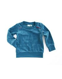 Aqua velours sweater - Mundo Melocoton