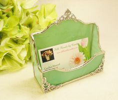 NEW Light Teal Green Business Card Holder by MoreThanColors, $32.50