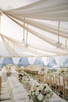 20 Chic and Elegant Wedding Tent Draping Inspiration Wedding Table, Our Wedding, Dream Wedding, Marquee Wedding, Wedding Receptions, Luxury Wedding, Wedding Cakes, Reception Decorations, Diy Wedding Decorations