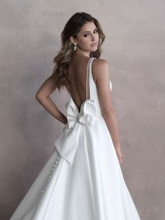 Allure Bridal Gown 9813 A crisp finish and subtle sheen are beautifully in harmony in composing this sleeveless mikado ballgown. Atlas Bridal Shop is a bridal & wedding dress shop in Toledo, Ohio. Find wedding dresses, bridal gowns, veils & hair accessories, plus size, lace, a line, off the shoulder, sleeves, beach, destination, formal, wedding dress styles. Wedding dress designers include Morilee, Allure Bridal, Allure Couture, Maggie Sottero, Rebecca Ingram, Sottero Midgely and more. Wedding Dress Train, Bridal Wedding Dresses, Designer Wedding Dresses, Bridesmaid Dresses, Allure Couture, Wedding Dress Boutiques, Bridal And Formal, Formal Wedding, Formal Gowns