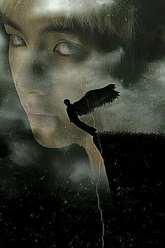 And so the boy fell towards the abyss below but he felt something pull him back. It was his wings. They were not a part of him, not truly. They had been given to him by the being they called God. But the darkness beckoned. His love cried out for him and the boy fell further until suddenly the deliciously sharp sensation of agony spread throughout his spine down to his toes and he was falling to the sweet, sweet darkness. It was too evil.  And the boy smiled.