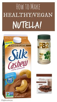 Mix together 1tbl of PB2 powder and2 tbl of Chocolate protien powder (my favorite is Juice Plus complete because it is made with WHOLE fruits and vegetables) and Chocolate nut-based milk until you reached desired consistency!