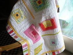 Log Cabin...hand quilted
