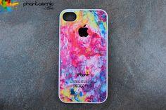 Paint splattered iPhone case