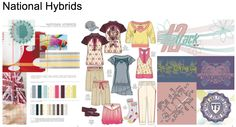 National Hybrids Active colour trend board by Mudpie for Pantone colour competition