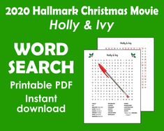 Christmas Word Search Printable Hallmark Christmas Movies | Etsy Unique Gifts For Mom, Creative Gifts, Cute Gifts, Funny Gifts, Christmas Words, Best Christmas Gifts, Christmas Word Search Printable, Hallmark Christmas Movies, Inexpensive Gift