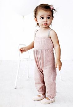 de8c7630be3f Baobab Girls Babygro - Dusty Pink