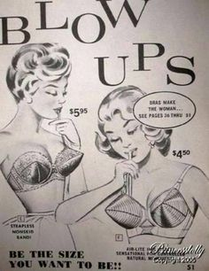 Vintage Advertisement - Blow Ups Bras