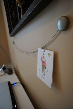 Photo wire above desk