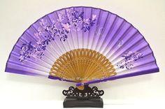 Purple Hand Fan Cloth fabric Japanese fan by HaveItFancyWorld Hand Held Fan, Hand Fans, Jewel Hands, Chinese Fans, Antique Fans, Bamboo Art, Purple Hands, Wedding Fans, Paper Fans