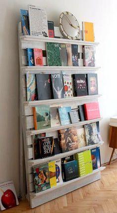 Estante de Livros de Paletes http://arquiteteblog.wordpress.com