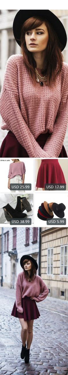 This is Katarzyna Konderak's buyer show in OurMall;  1.Winter New Arrivals Female Loose Sweaters Jumper Women's Fashion Solid Knitted Sweaters 2.bust skirts women big swing sun skirt bottoming pleated skirts ladies 3.2015 fashion autumn ankle boots pu leather shoes woman suede Spli... please click the picture for detail. http://ourmall.com/?3amY7v