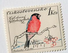 set of 1959 Czechoslovakian postage stamps designed by painter, illustrator, lettering artist, teacher and stage designer Karel Svolinsky (1896-1986) and engraved by Jirka Ladislav
