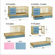 Planos para cunas de madera Baby Furniture Sets, Kids Bedroom Furniture, Space Saving Furniture, Office Furniture, Baby Boy Rooms, Baby Bedroom, Baby Room Decor, Baby Crib Diy, Multifunctional Furniture