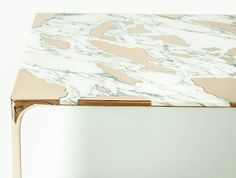 Marble & Bronze Coffee Table