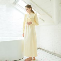 Cotton Elegance Queen Nightgown loose comfortable Home dress $58.08 => Save up to 60% and Free Shipping => Order Now! #fashion #woman #shop #diy www.homeclothes.n...