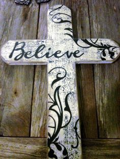 can be done with many different saying or inspirational words !!!! order yours today  Lori's country crosses , find me on facebook <3