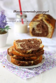 Plumcake marmorizzato panna e yogurt foto food photo ricette colazione merenda torta bicolore cioccolato cacao photograpy