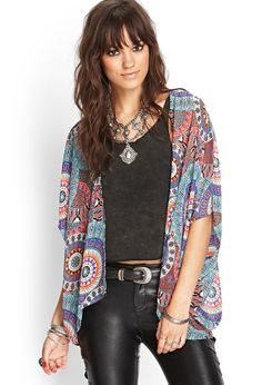 Abstract Open-Front Kimono | FOREVER21 #SummerForever