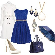 Pretty in Blue, created by goharv on Polyvore