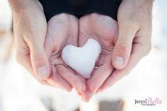 Snow Heart, Engagement photos Cleveland, Ohio