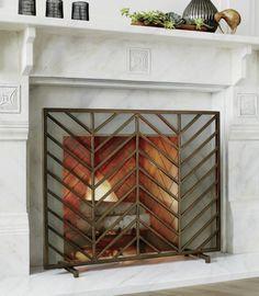 11 best brass fireplace screen makeovers images fire places rh pinterest com