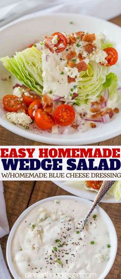 Classic Wedge Salad with an slice of iceberg lettuce tomato red onions bacon . Salad Recipes Classic Wedge Salad with an slice of iceberg lettuce tomato red onions bacon . Lettuce Wedge Salad, Iceberg Wedge Salad, Cobb Salad, Cucumber Salad, Quinoa Salad, Wedge Salad Recipes, Lettuce Salad Recipes, Healthy Salad Recipes, Recipes