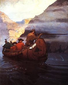 by N.C. Wyeth. Illustrations for The last of the mohicans