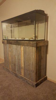 DIY fish tank stand 55