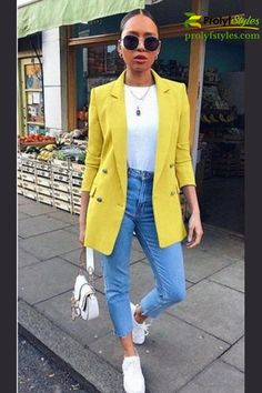 Upgrade your fall fashion look with a Casual Style Workwear Blazer. This casual style blazer can be worn all season as business casual outfit for women fashion wear. It's a great blazer outfits for women casual street style fashion. Add it to your work style outfit for a trendy fashion look.  trendy looks for women fashion ideas #edgyoutfits #cutecomfyoutfits #womenbusinesscasual #womenjacket Cute Comfy Outfits, Casual Work Outfits, Casual Winter Outfits, Winter Fashion Outfits, Autumn Fashion, Fashion Fashion, Trendy Fashion, Zulily Women Tops, Crop Top Outfits