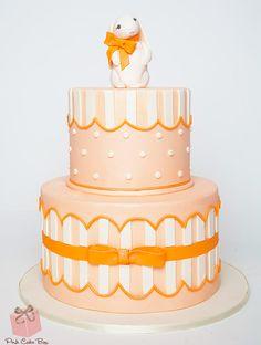 Rabbit Baby Shower Cake