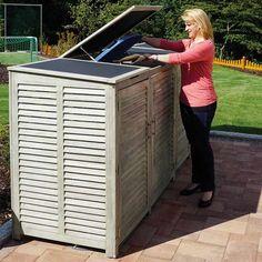 Mülltonnen Stellplatz für zwei 240-Liter-Tonnen