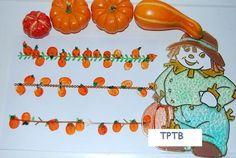 Thumbprint Pumpkin Patch, Hand Print Pumpkins, and Witches Hats | The Preschool Toolbox Blog