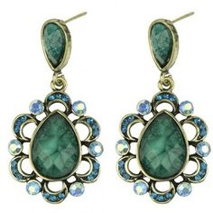 Stunning Green Crystal Earrings
