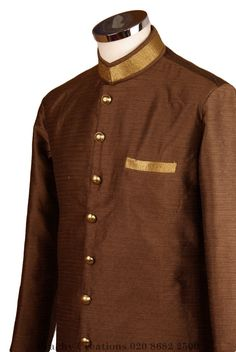 Perfect for Bollywood Party - Light Sherwani - Copper - Karbhari VK 0316