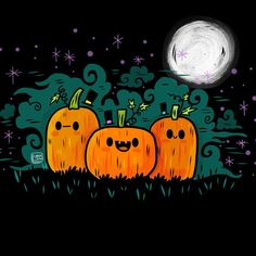 Pumpkin Guy Pumpkin Patch Art Print for Halloween Lovers | Halloween Art | Halloween Illustration
