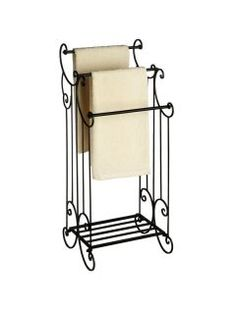 old stand up towel rack | Black Elaborate Victorian Towel Rail