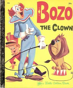 Bozo the Clown Vintage Little Golden Book Illustrated by Carl Buettner 1971. by MyLittleBookGarden
