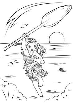 Dibujo para colorear de Vaiana (nº 4)