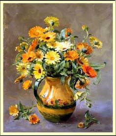 Marigolds by Anne Cotterill