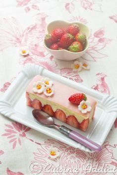 """Japanese """"Fraisier"""" - Strawberry sponge cake - Cuisine Addict English version"""