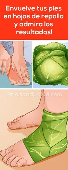 Envuelve tus pies en hojas de col o repollo y admira los resultados.
