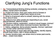 Very helpful explanation of the different cognitive functions. Easy to confuse with the 40 functions.