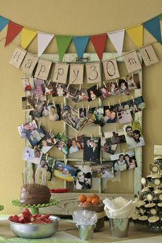 Love the idea of a photo collage for any type of party/ anniversary.