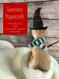 Harry Potter snowman papercraft Winter Activities For Kids, Winter Crafts For Kids, Easy Crafts For Kids, Winter Fun, Christmas Crafts For Kids, Crafts To Do, Winter Wonder, Indoor Activities, Christmas Activities
